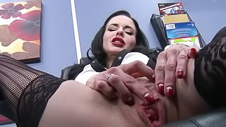 Veronica Avluv blows and gets her twat smashed indoors