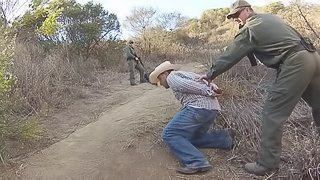 At the border an agent bangs a hot girl he caught trying to sneak in