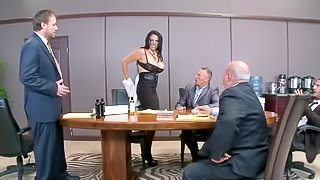 Sexy secretary gets a proper fucking