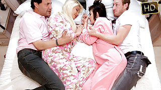 Elizabeth And Jenna in The Sleepover Switch-Up - TeamSkeet