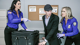 Alison Tyler & Julia Ann & Danny D in Fluids on the Flight 2 - Brazzers