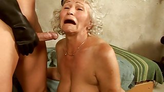 hairy granny Norma - Dungeon sex