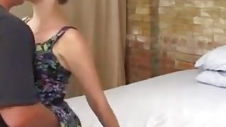 Husband films a porn using his cute wife and another man